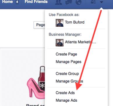 Create ad in facebook