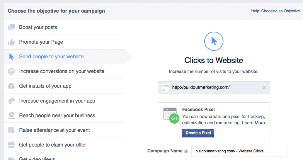Facebook advertising pixel