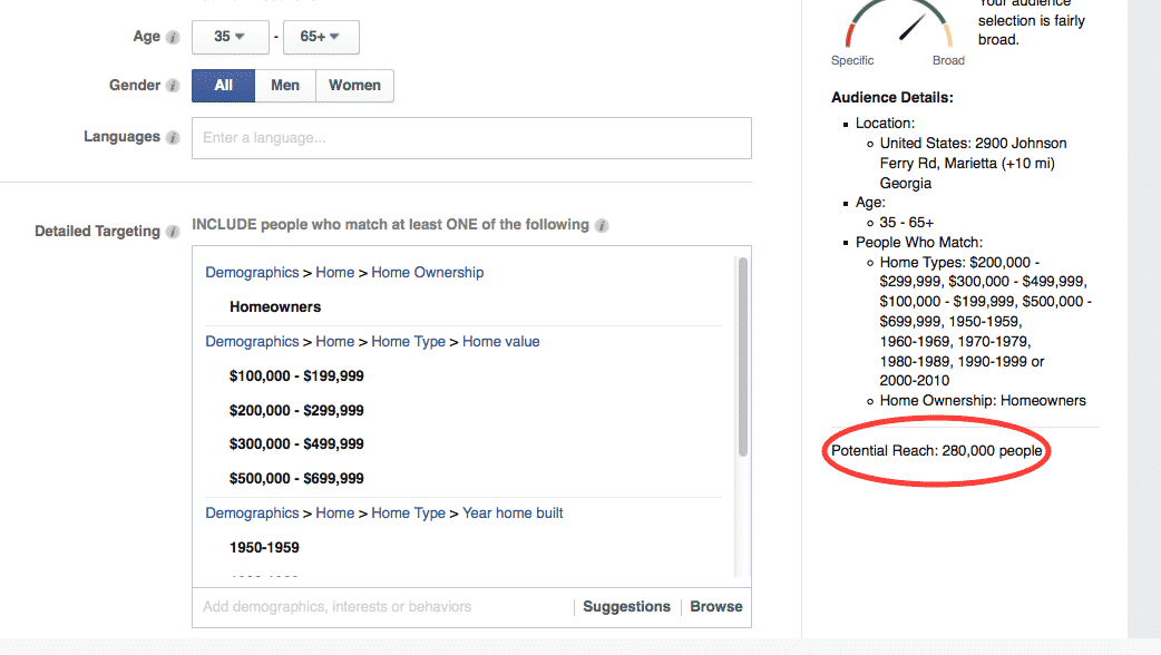 Refine your target market for facebook ads for contractors