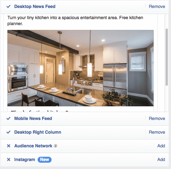 Previewing your Facebook ads