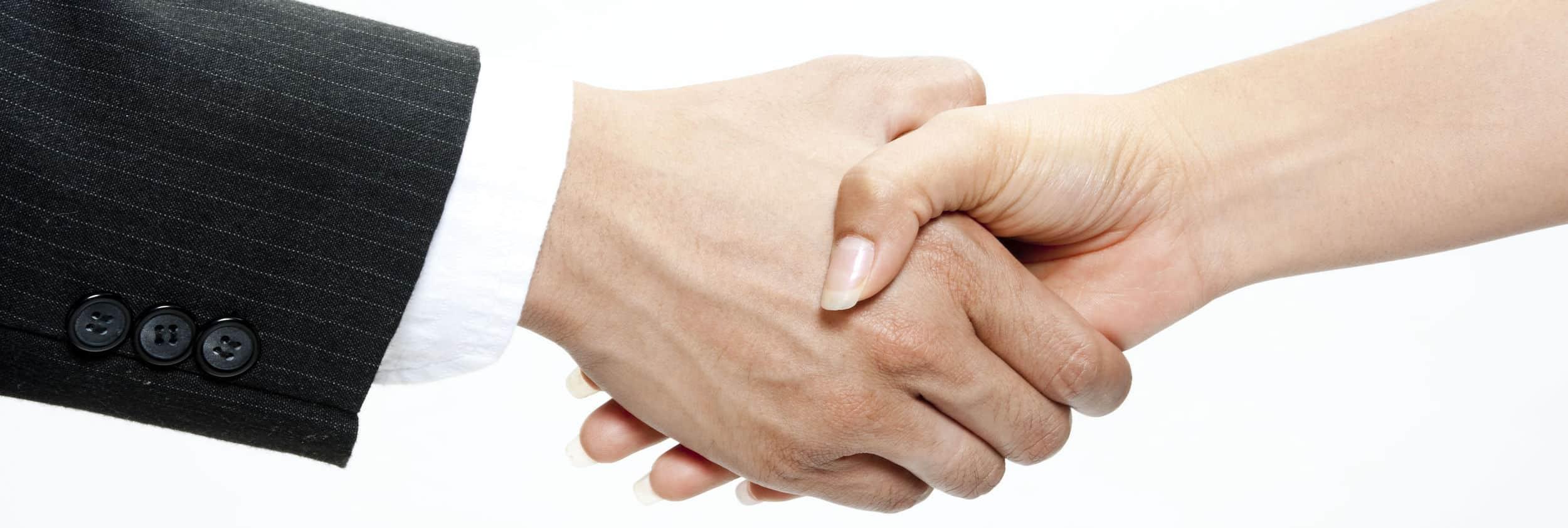 Atlanta web design shaking hands
